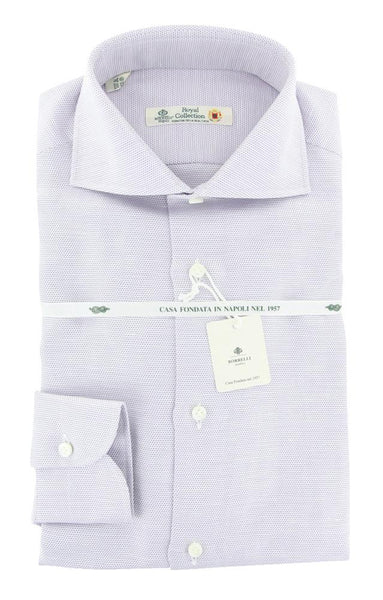 New $600 Luigi Borrelli Purple  Shirt - Extra Slim - (LB4305PU) - Parent