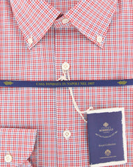 New $600 Luigi Borrelli Red Shirt - Extra Slim - (EV06458940STEFANO) - Parent