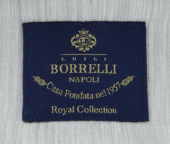 New $600 Luigi Borrelli Gray Shirt - Extra Slim - (EV06RC461230) - Parent