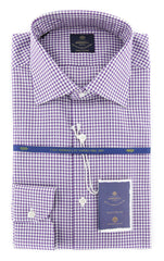 New $600 Luigi Borrelli Purple Shirt - Extra Slim - 17/43 - (EV0653880RIO)