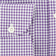 New $600 Luigi Borrelli Purple Shirt - Extra Slim - (EV0653880RIO) - Parent