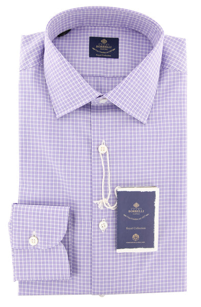 New $600 Luigi Borrelli Purple Shirt - Extra Slim - (EV06RC54080) - Parent
