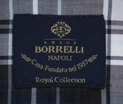 New $600 Luigi Borrelli Brown Shirt - Extra Slim - (EV0657060STEFANO) - Parent