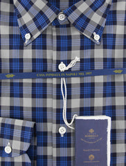 New $600 Luigi Borrelli Blue Shirt - Extra Slim - (EV0665971STEFANO) - Parent