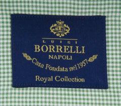 New $600 Luigi Borrelli Green Shirt - Extra Slim - (EV0667850GIANNI) - Parent