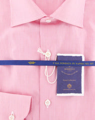 New $600 Luigi Borrelli Pink Shirt - Extra Slim - (EV0679040RIO) - Parent