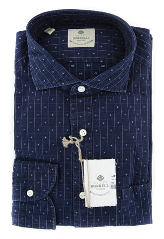 Borrelli Midnight Navy Blue Shirt - Extra Slim