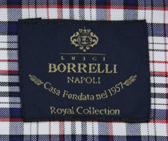 New $600 Luigi Borrelli Blue Shirt - Extra Slim - (EV0656870STEFANO) - Parent