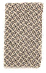 "New $400 Luigi Borrelli Brown Foulard Long Scarf - 78"" x 26"" - (FB70FI120231)"