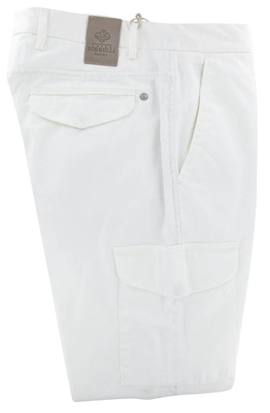 New $475 Luigi Borrelli White Solid Pants - Super Slim - 31/47 - (FORIA25810500)