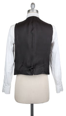 New $900 Luigi Borrelli Gray Wool Shephard's Check Vest - (LBVEST12160) - Parent