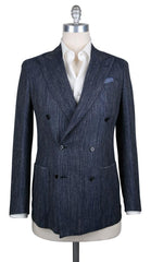 New $3100 Luigi Borrelli Blue Wool Solid Sportcoat - 40/50 - (LBSPT166070)
