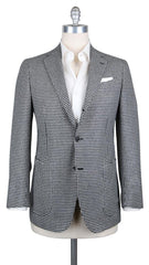 New $6000 Luigi Borrelli Black Wool Sportcoat - (LBSPT6150822) - Parent