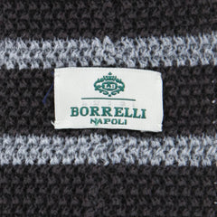 "New $195 Luigi Borrelli Brown Striped Tie - 2.5"" x 58"" - (MD60TI121582)"