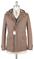 New $1525 Luigi Borrelli Light Brown Solid Jacket -  40/50 - (OW01105G00161)