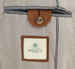 New $1375 Luigi Borrelli Beige Wool Solid Jacket -  46/56 - (OW01112G00760)