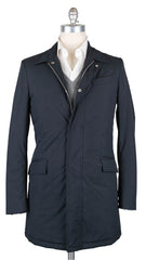 New $1675 Luigi Borrelli Navy Blue Solid Jacket -  46/56 - (OW01114G00170)