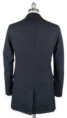 New $1675 Luigi Borrelli Navy Blue Solid Jacket -  40/50 - (OW01114G00170)