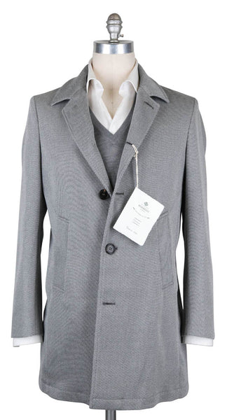 $1475 Luigi Borrelli Light Gray Coat - Size M (US) / 50 (EU) - (OW01115G00530)