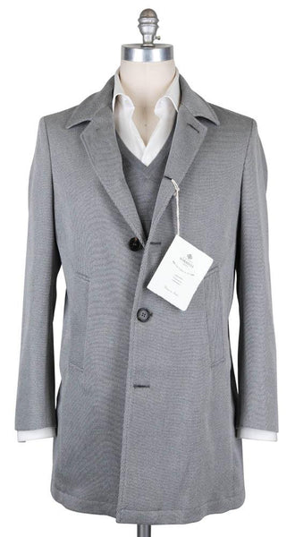 New $1475 Luigi Borrelli Light Gray Coat -  40/50 - (OW01115G00530X2)
