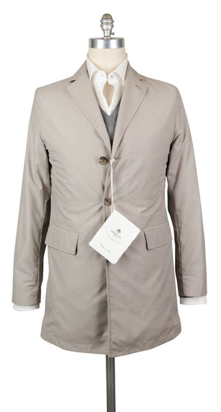 New $1800 Luigi Borrelli Beige Solid Jacket - 44/54 - (OW2100G100160)