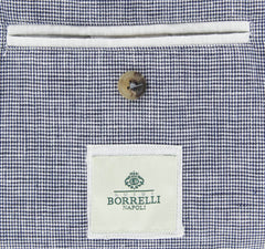 New $1825 Luigi Borrelli Blue Shephard's Check Jacket - 42/52 - (OW2101G100670)