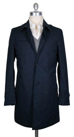 Luigi Borrelli Navy Blue Raincoat