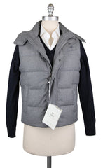 New $1650 Luigi Borrelli Light Gray Wool Solid Vest - 36/46 - (LB72190030)