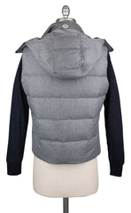 New $1650 Luigi Borrelli Light Gray Wool Solid Vest - (LB72190030) - Parent