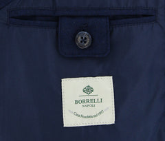 New $1650 Luigi Borrelli Midnight Navy Solid Vest - (LB70021970) - Parent