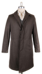 New $1600 Luigi Borrelli Brown Wool Melange Raincoat - 44/54 - (LB721173)