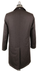 New $1600 Luigi Borrelli Brown Wool Melange Raincoat - (LB721173) - Parent