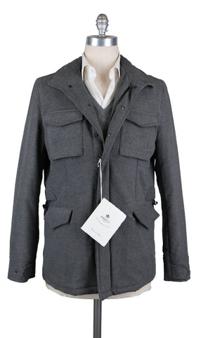 Luigi Borrelli Gray Peacoat
