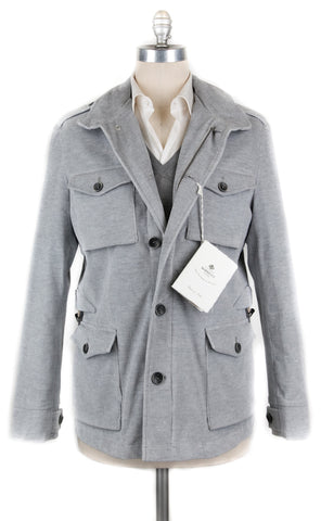 Luigi Borrelli Light Gray Peacoat