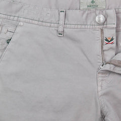 New $400 Luigi Borrelli Beige Solid Pants - Super Slim - 34/50 - (PAR20510573)