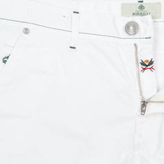 New $400 Luigi Borrelli White Solid Pants - Super Slim - 38/54 - (PAR29310500)