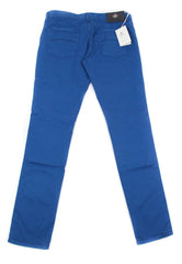 New $400 Luigi Borrelli Blue Solid Pants - Super Slim - 36/52 - (PAR29310551)