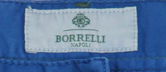 New $400 Luigi Borrelli Blue Solid Pants - Super Slim - 33/49 - (PAR29310551)