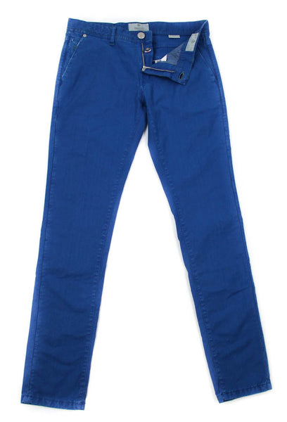 New $400 Luigi Borrelli Blue Solid Pants - Super Slim - 33/49 - (PAR40510551)