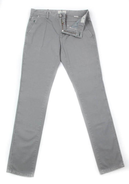 New $425 Luigi Borrelli Gray Solid Pants - Super Slim - 31/47 - (PARJ01430)