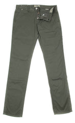 New $400 Luigi Borrelli Olive Green Pants - Super Slim - 32/48 - (PARCOTOGRN)