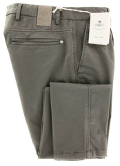 New $425 Luigi Borrelli Brown Solid Pants - Super Slim - 31/47 - (PET2221-0552)