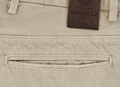 New $425 Luigi Borrelli Beige Solid Pants - Super Slim - 33/49 - (PETJ0160060)