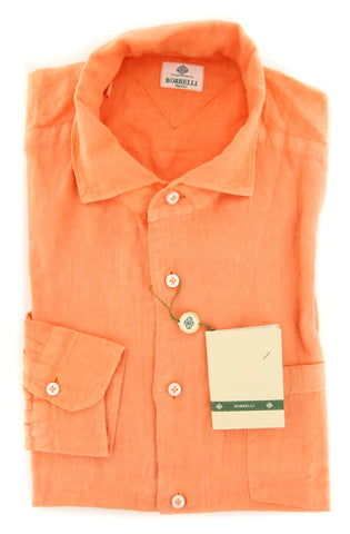 Luigi Borrelli Orange Shirt - Slim