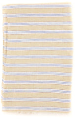 "New $250 Luigi Borrelli Beige Striped Long Scarf - 60"" x 27"" - (LBSS12120)"