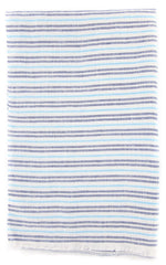 "New $250 Luigi Borrelli Blue Striped Long Scarf - 68"" x 27"" - (LBSS1279)"