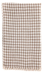 "New $250 Luigi Borrelli Brown Check Long Scarf - 78"" x 27"" - (LBSS12212)"