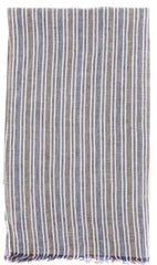 "New $250 Luigi Borrelli Brown Striped Long Scarf - 56"" x 27"" - (LBSS12103)"