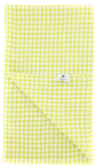 "New $250 Luigi Borrelli Green Check Long Scarf - 58"" x 27"" - (LBSS1237)"