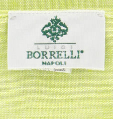 "New $250 Luigi Borrelli Green Solid Long Scarf - 58"" x 27"" - (LBSS121)"